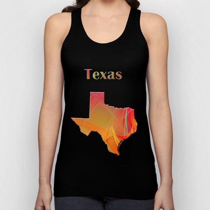 Texas Map Unisex Tank Top