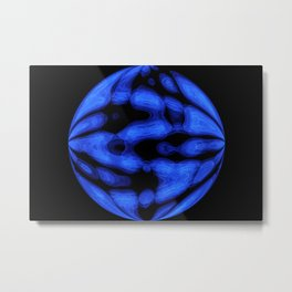 Blue Light Style Metal Print