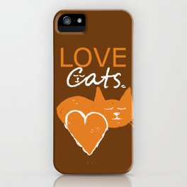 Love cats iPhone Case