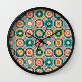 Tid Bit of Boho Spring Wall Clock
