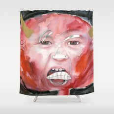 I feel angry Shower Curtain