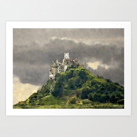 France-Mont Saint Michel Art Print