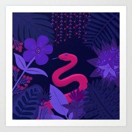 Snake in the Jungle Art Print