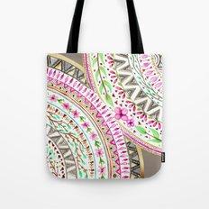 Mandalas indigo watercolor and flowers Tote Bag