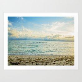 Serene Aqua Art Print