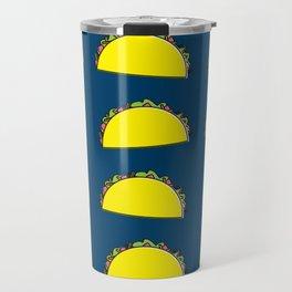 omg tacos! on navy Travel Mug