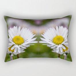 Colourful mirroring daisy flowers Rectangular Pillow