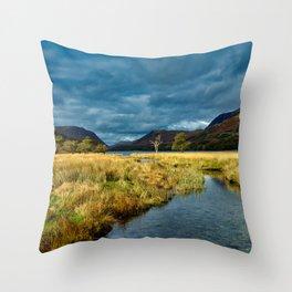 Buttermere landscape Throw Pillow
