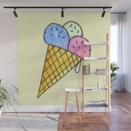 Popart candy and ice-cream Wall Mural