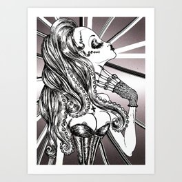 Mademoiselle Octopussy Art Print