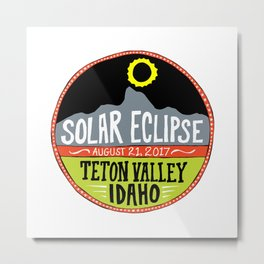 Teton Valley Eclipse Metal Print