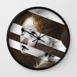 Leonardo da Vinci's Angel from Virgin of the Rocks & Bette Davis Wall Clock