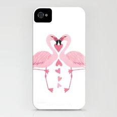 Flamingo Love. iPhone (4, 4s) Slim Case