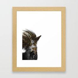 golden horse Framed Art Print