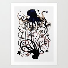 The shadow likes me Art Print
