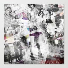Newspaper collage Canvas Print