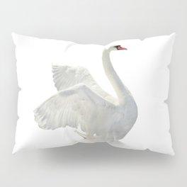 WHITE ON WHITE-BEAUTIFUL SWAN Pillow Sham
