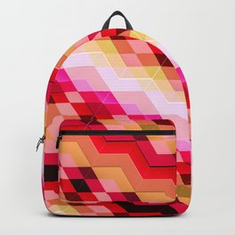 3D geometric patterns Backpack