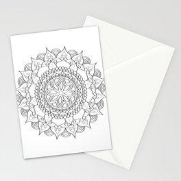 hand drawn mandala art Stationery Cards