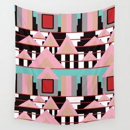 Postmodern City Skyline Wall Tapestry