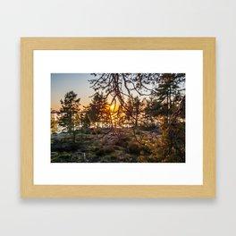 Sunset At Summer In Finland Framed Art Print