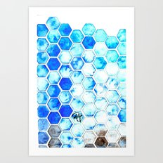 Blue Honey Art Print