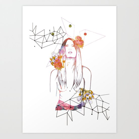"""Natural Nude"" Mariam&Plástica Art Print"
