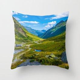 Alpine summer, Austria Throw Pillow