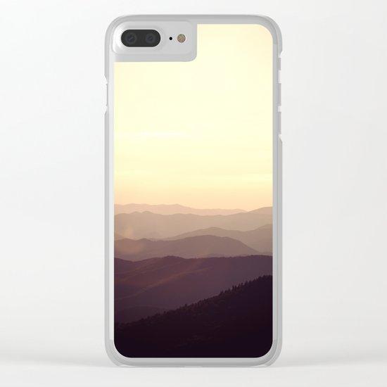 Smokier Mountain Clear iPhone Case