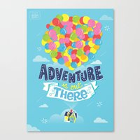 risa rodil Canvas Prints featuring Adventure is out there by Risa Rodil