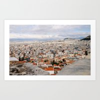 Athens from Above Art Print