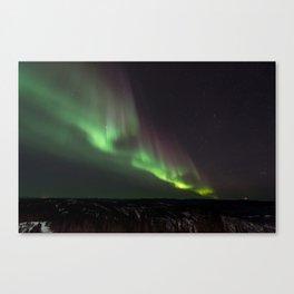 Northern Green Light Canvas Print