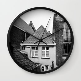 · My home...· Analogical Photography Black & White Wall Clock