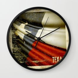 Grunge sticker of Texas (USA) flag Wall Clock