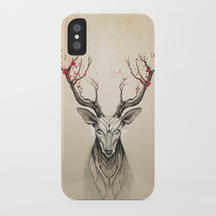 Deer tree iPhone Case