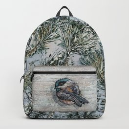 Weathered Chickadees Backpack