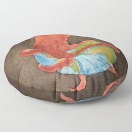 Octopus and Earth Floor Pillow