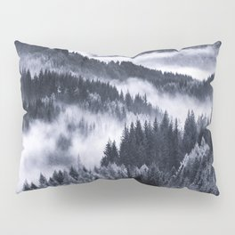 Misty Forest Mountains Pillow Sham