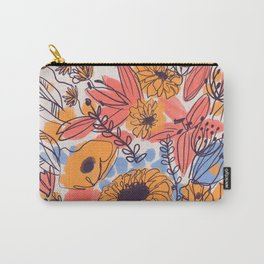 February Florals Carry-All Pouch