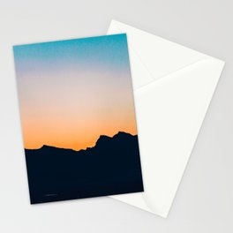 The Mountain After Sunset Stationery Cards