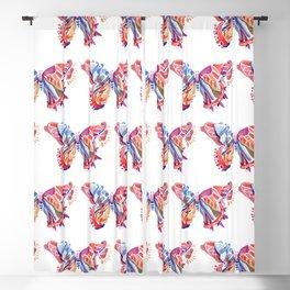 Butterfly In Asymmetrical World Blackout Curtain