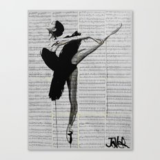 the black tutu Canvas Print
