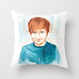 Watercolor Ed Throw Pillow