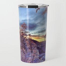 Icy Forest Awakens Travel Mug