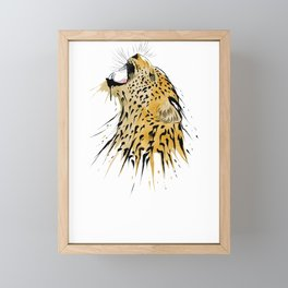 This leopard karate design is the perfect gift for martial artists who loves Taekwondo or Kung Fu Framed Mini Art Print