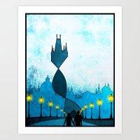 prague Art Prints featuring prague by Darthdaloon