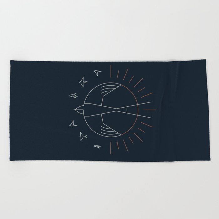 Swallow The Sun Beach Towel