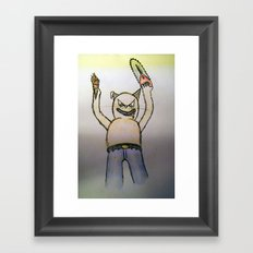 Killer cat Framed Art Print