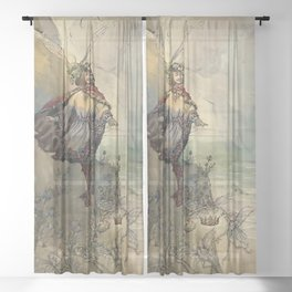"""""""King of the Fairies"""" by A Duncan Carse Sheer Curtain"""