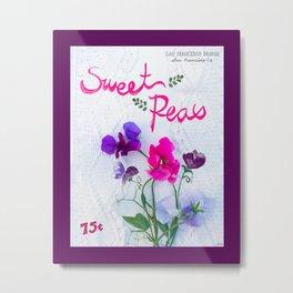 Sweet Peas Metal Print
